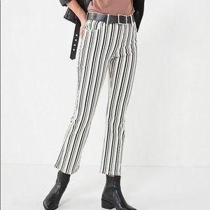 BDG striped kick flare denim